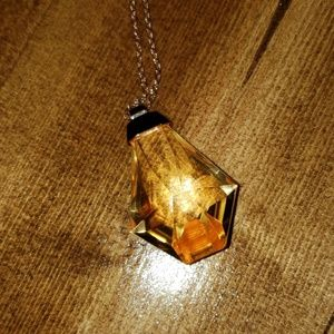 Jewelry - Extra Long Yellow Gem Necklace